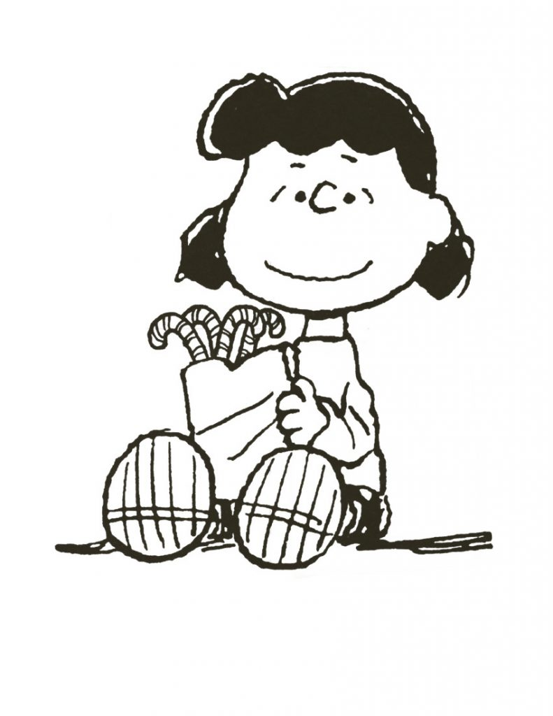 Charlie Brown Christmas Lucy Coloring Page