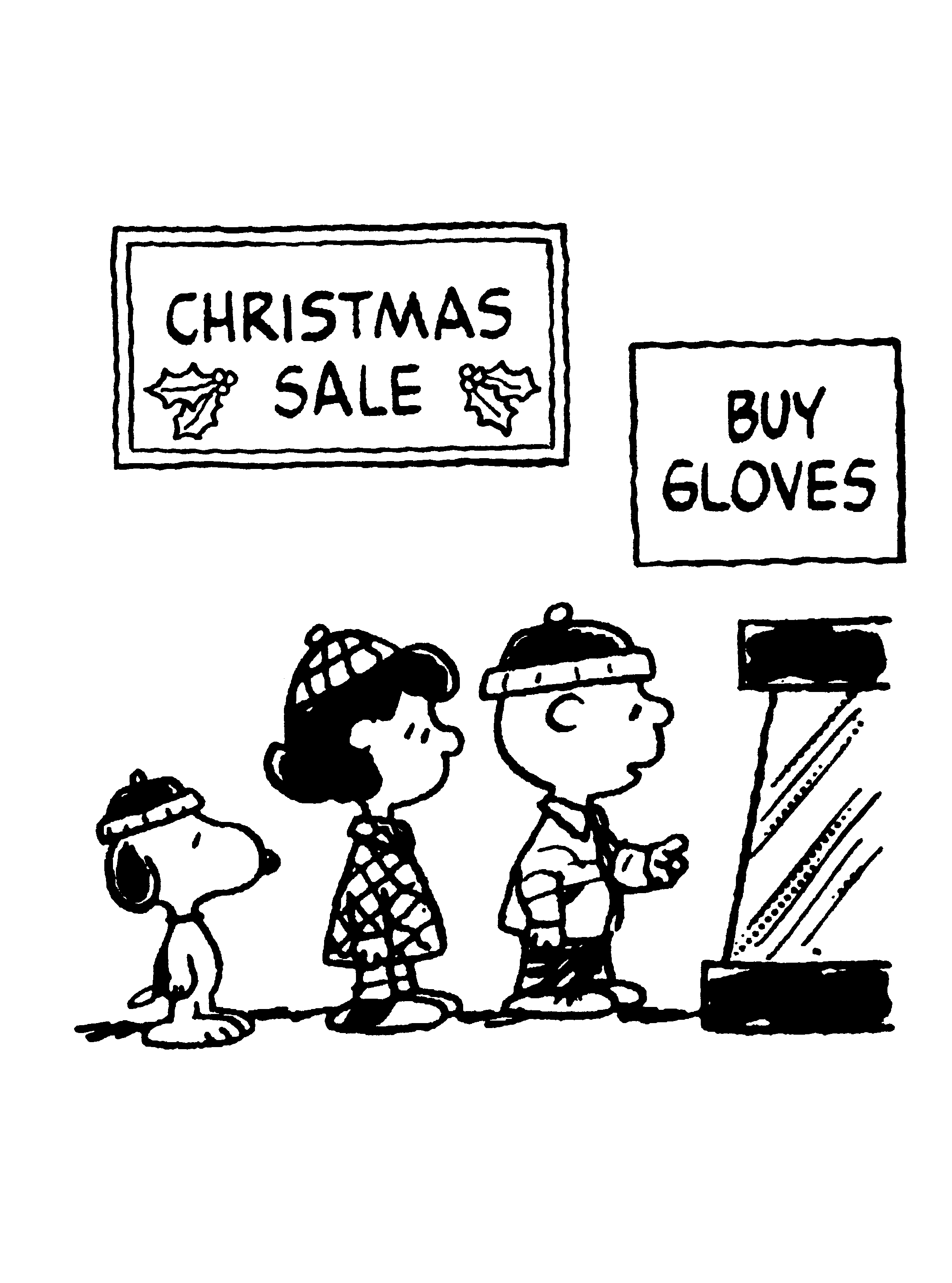 Charlie Brown Christmas Sale Coloring Page