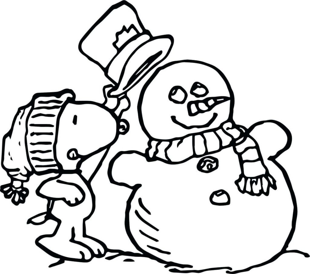 Charlie Brown Christmas Snoopy Coloring Page