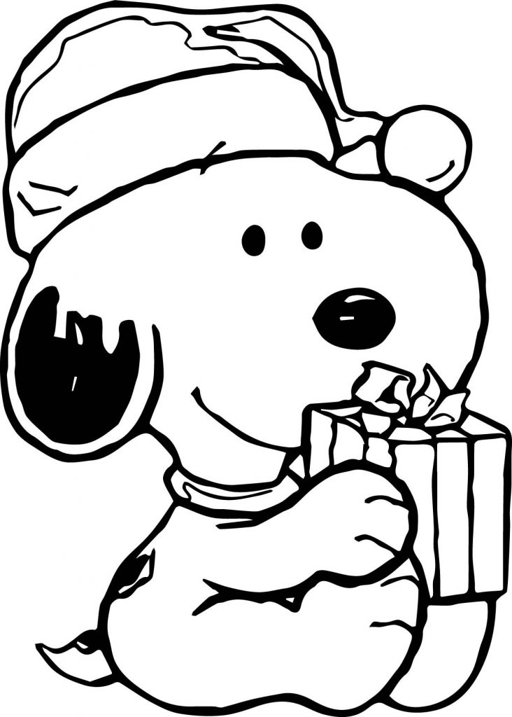 Charlie Brown Christmas - Snoopy's Gift Coloring Page