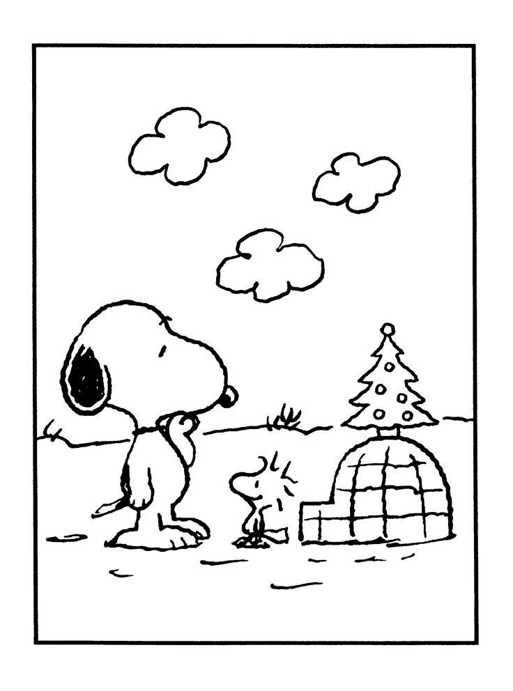 Download Charlie Brown Christmas Coloring Pages