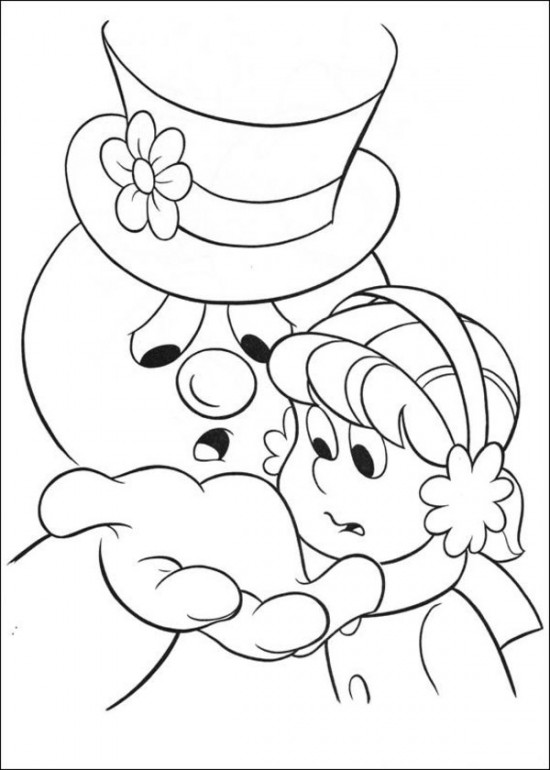 Free Frosty the Snowman coloring pages