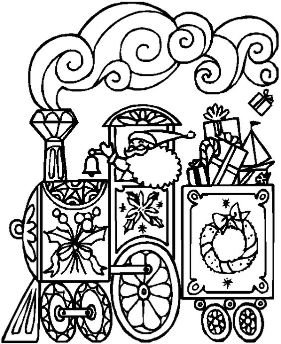 polar express train coloring pages - photo#24