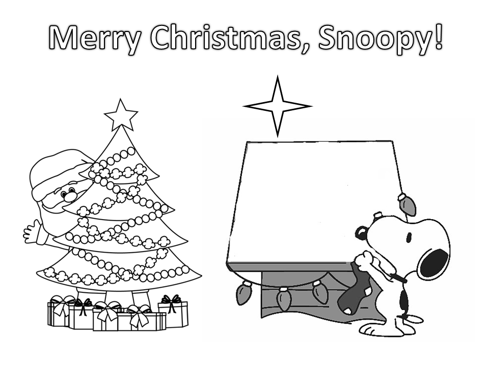 Free Printable Snoopy Coloring Pages