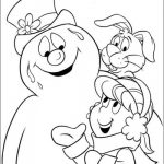 Frosty the Snowman Coloring page with friends