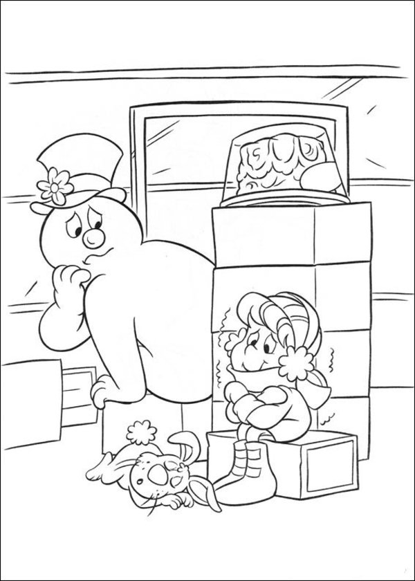 Frosty the Snowman coloring pages ice