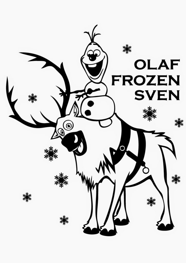 Frozen Coloring Page Olaf and Sven