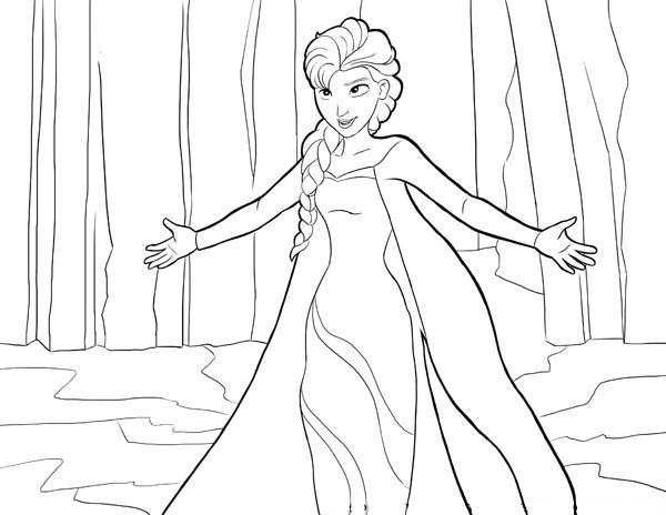 Frozen Elsa Coloring Page Let It Go