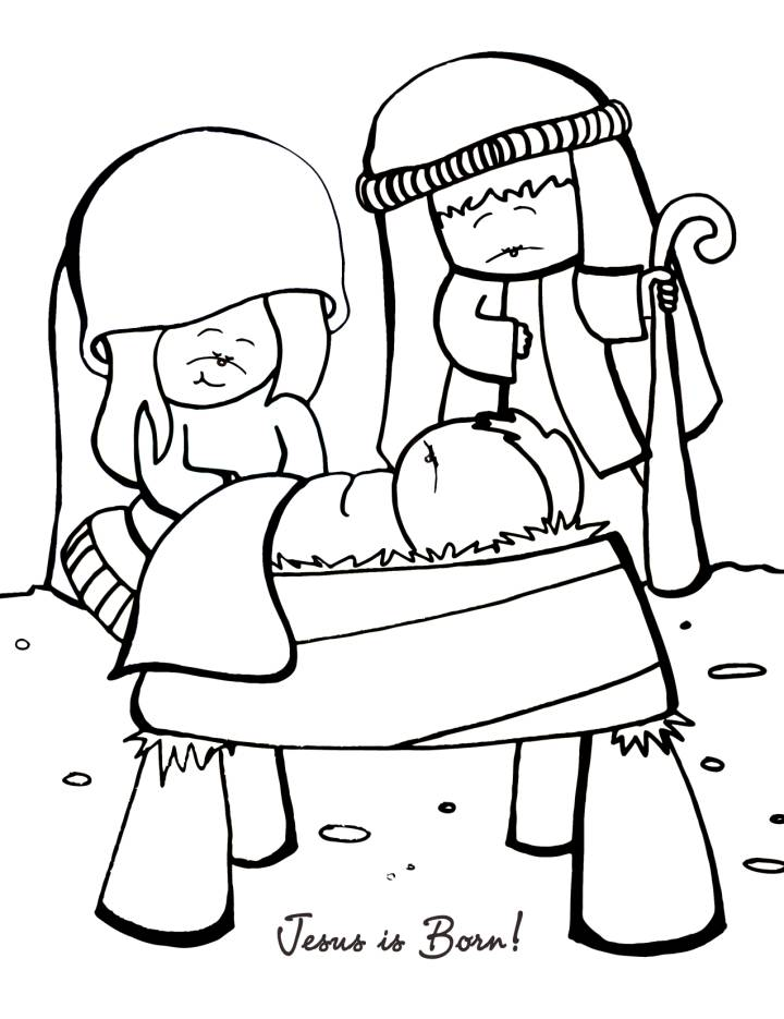 Jesus Is Born Nativity Coloring Page