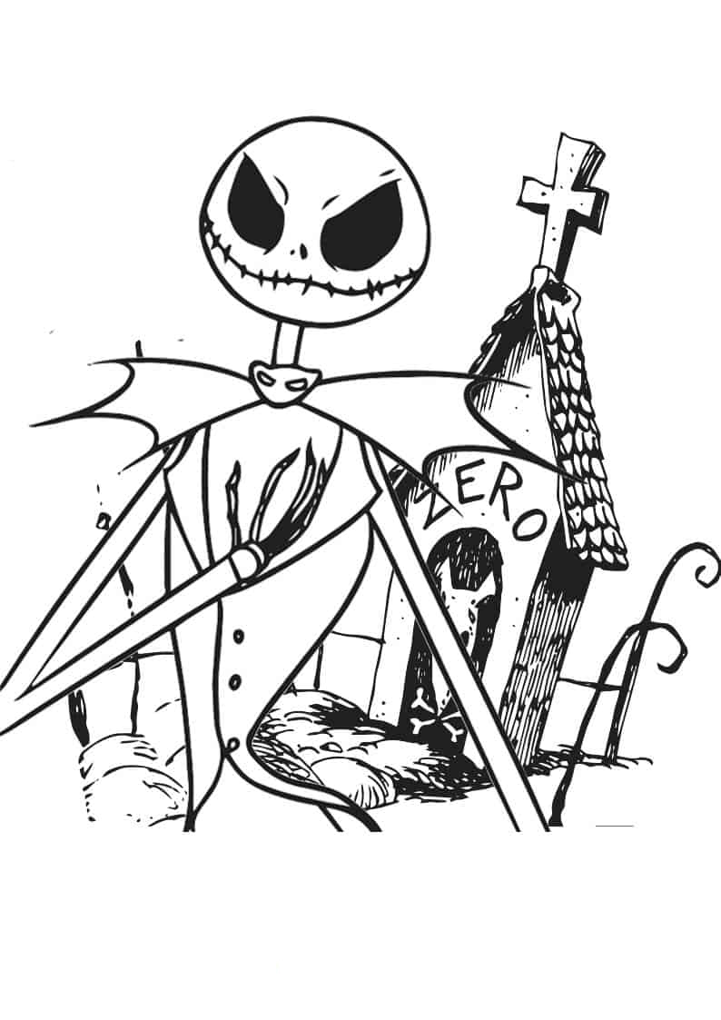 Nightmare Before Christmas Jack Coloring Page