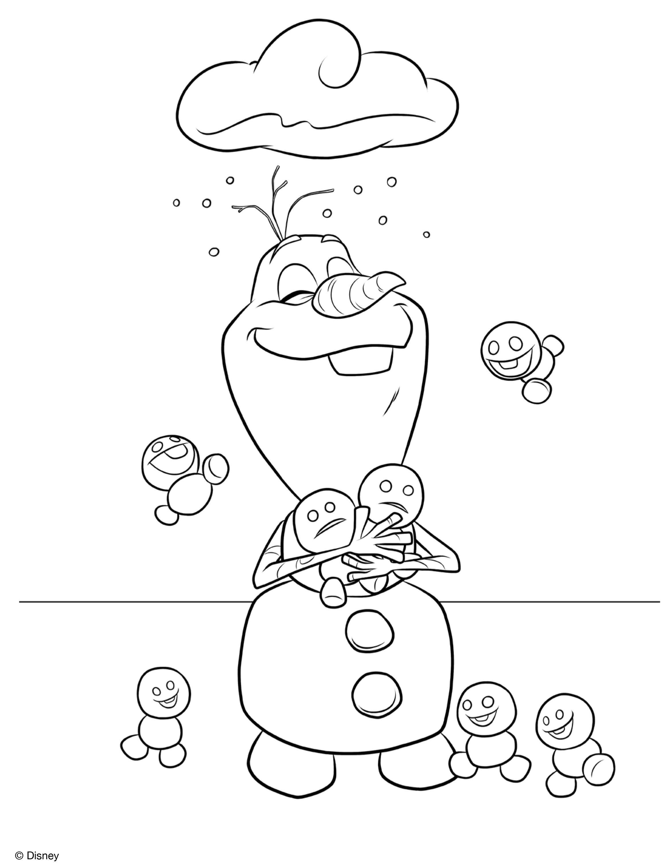 olaf coloring pages staying cool