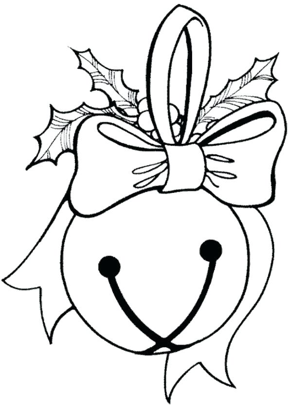 Polar Express Bell Coloring Page
