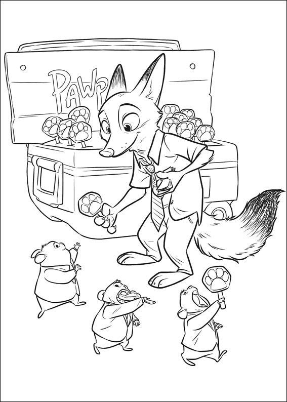 Zootopia Coloring Pages Best