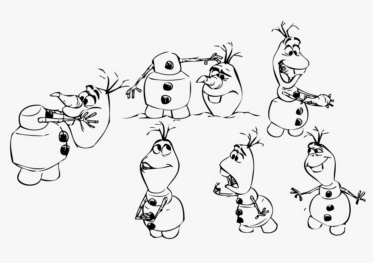 printable olaf coloring pages