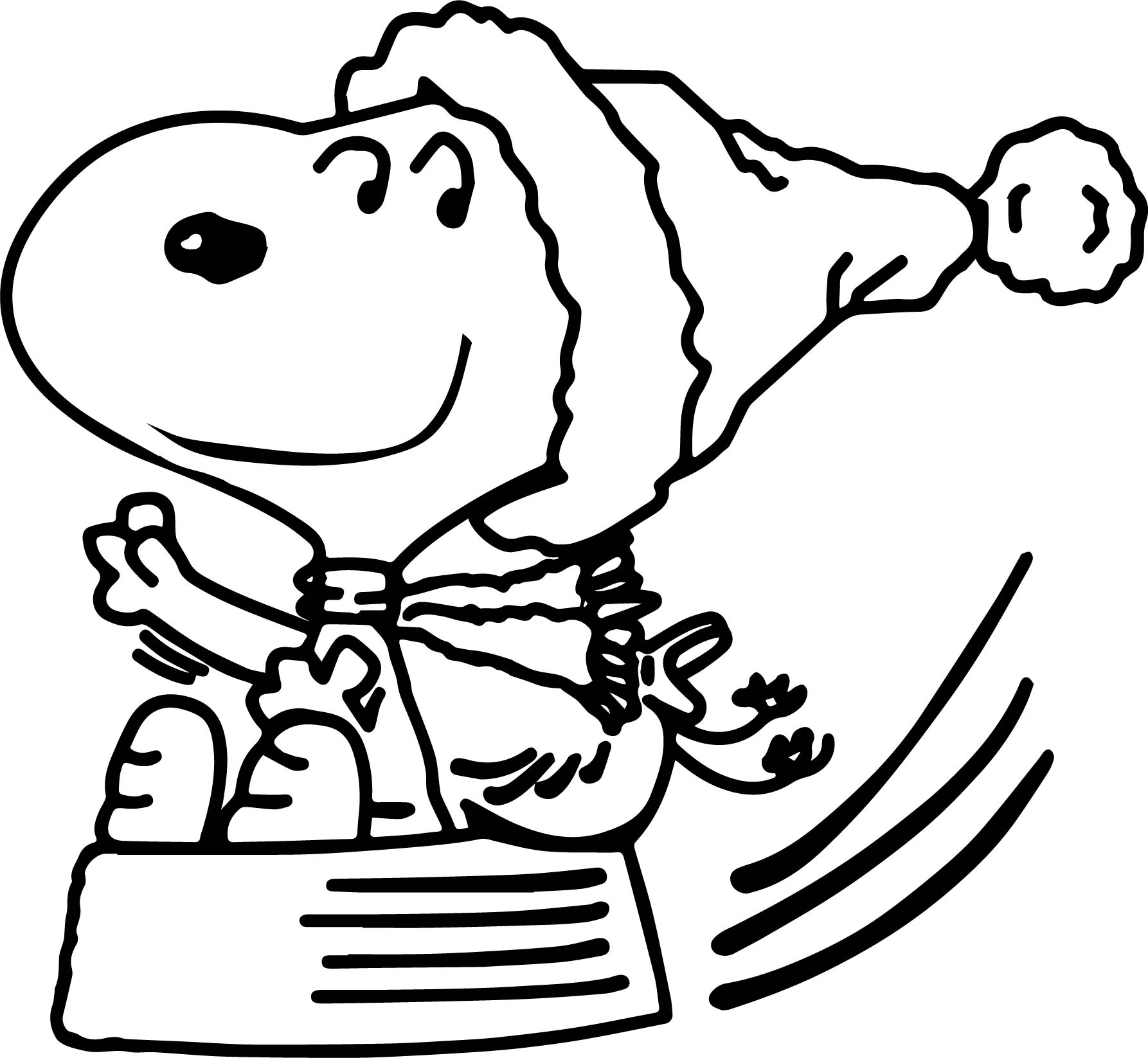 Snoopy Charlie Brown Coloring Page