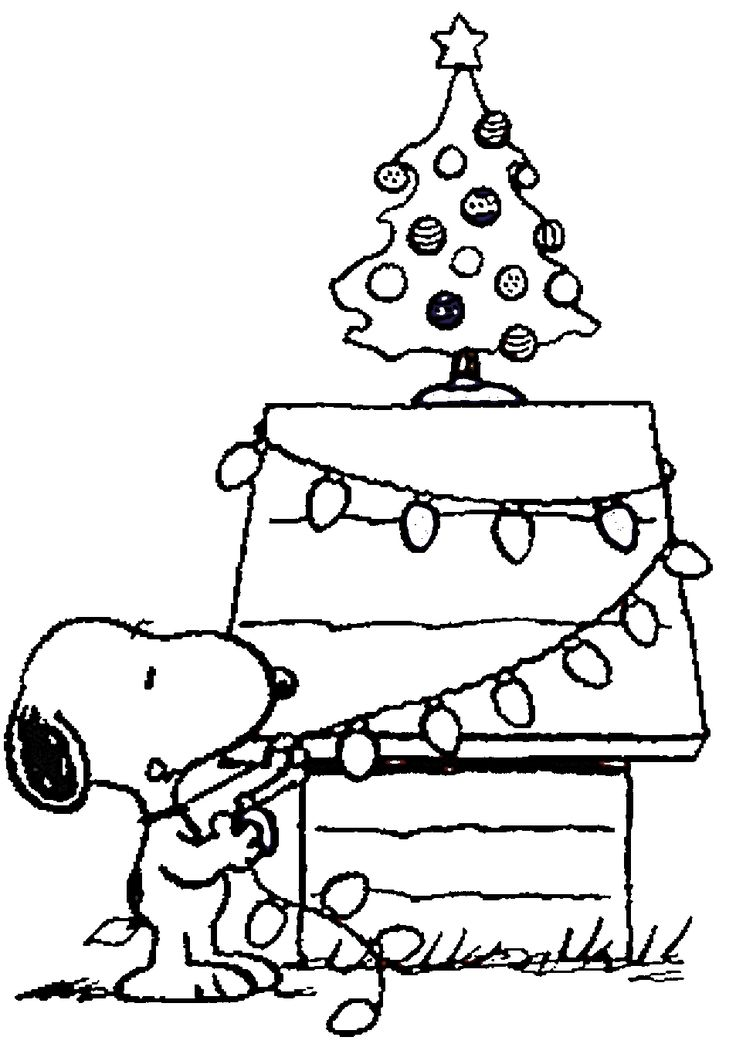 Free printable charlie brown christmas coloring pages for for Coloring pages for kids christmas