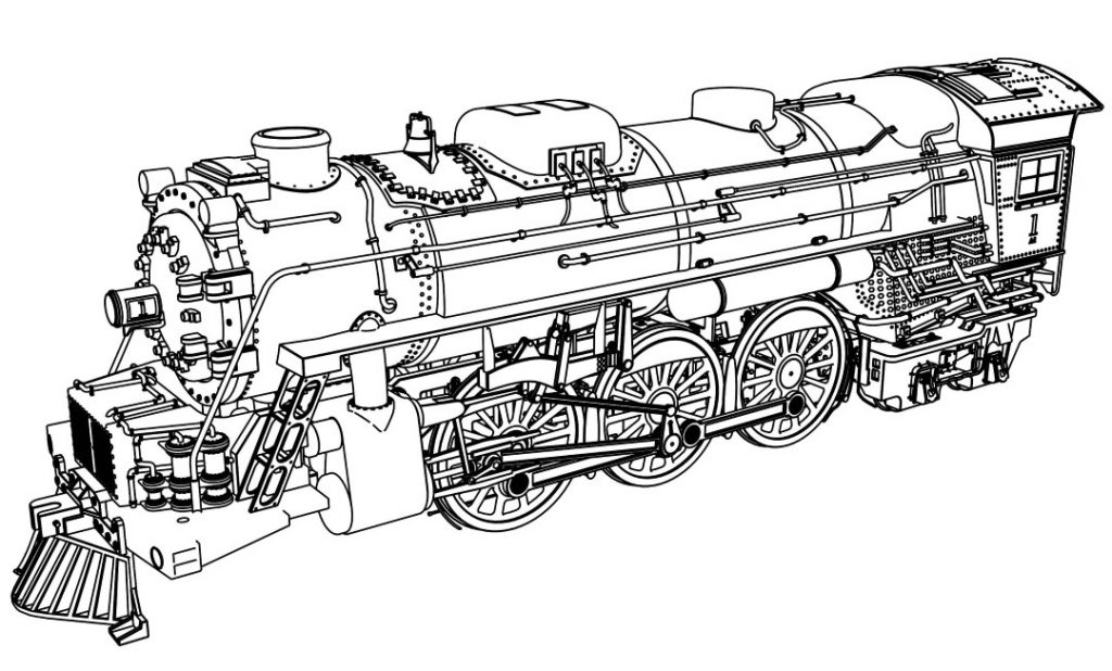 Train Coloring Pages With Very Detail Illustration Train Colorin