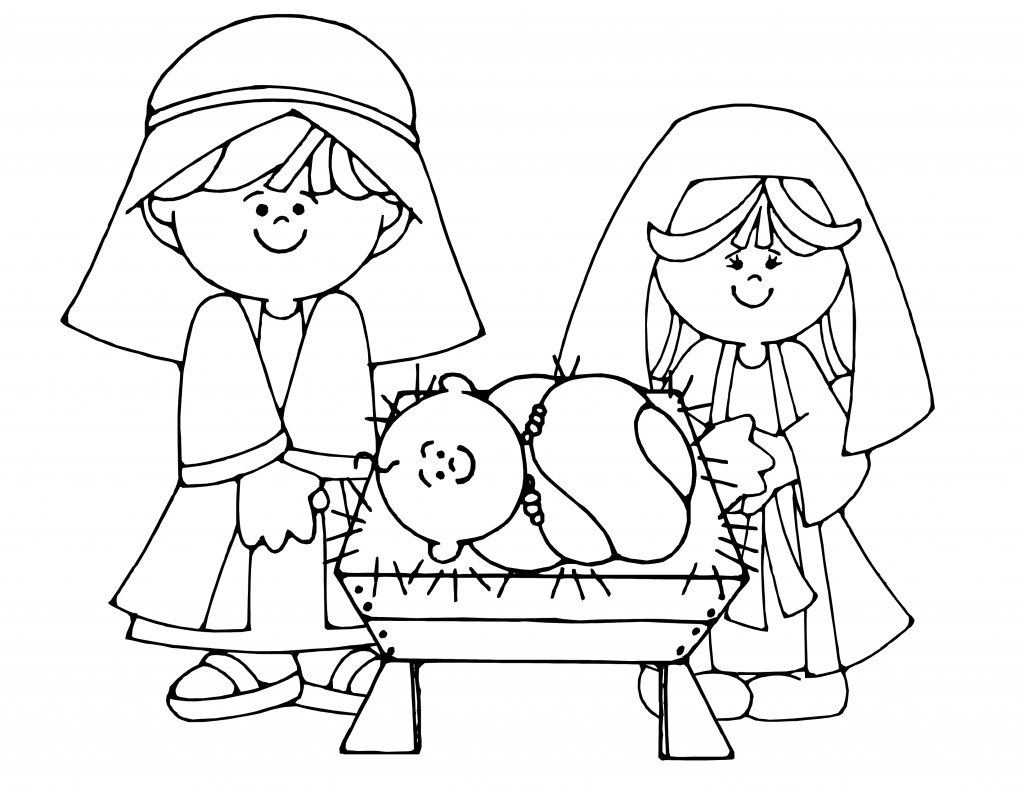 Free printable nativity coloring pages for kids best for Coloring book pages for toddlers