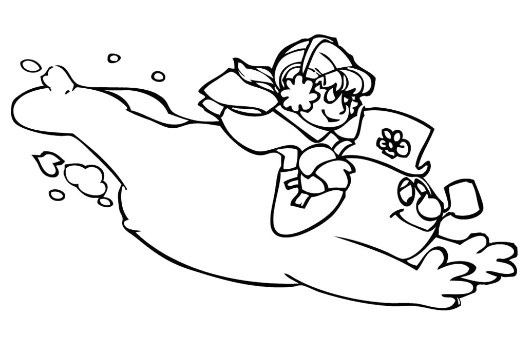 download frosty the snowman coloring pages