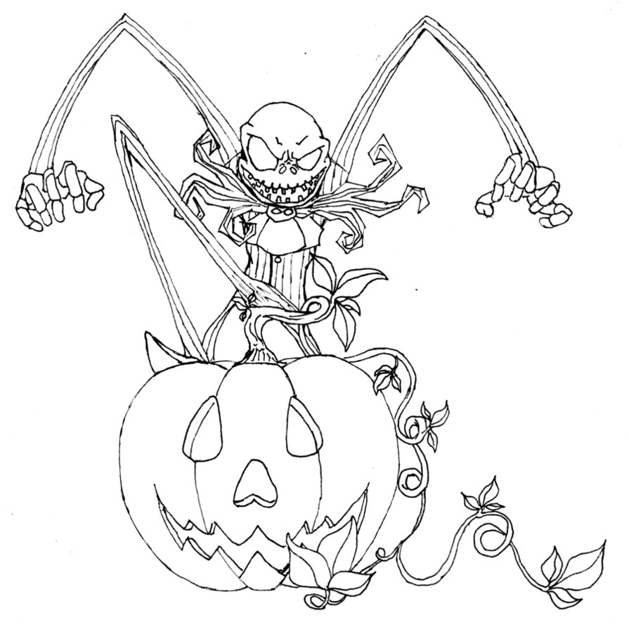 Free Printable Nightmare Before Christmas Coloring Pages - Best ...