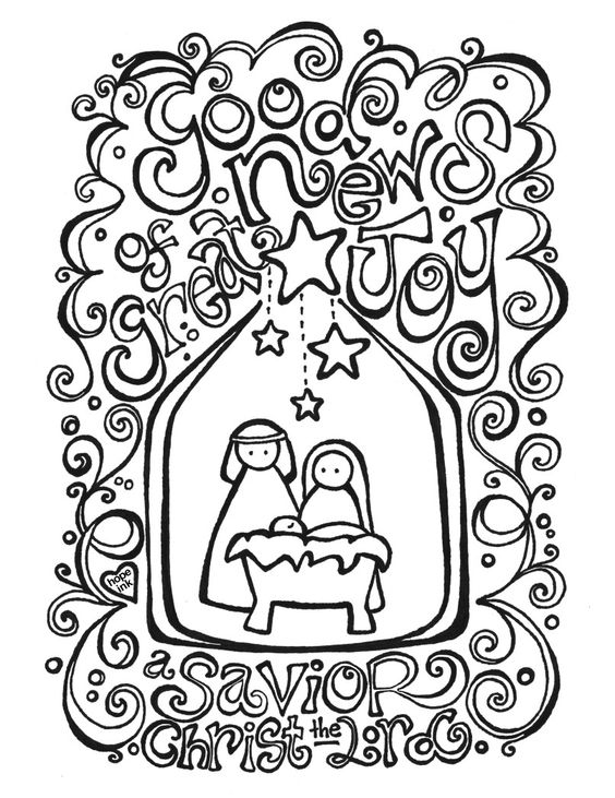 Christ Our Lord Nativity Coloring Sheet for Adults