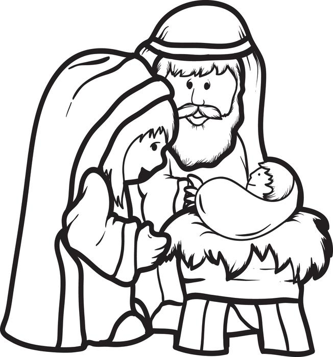 Free Nativity Coloring Page