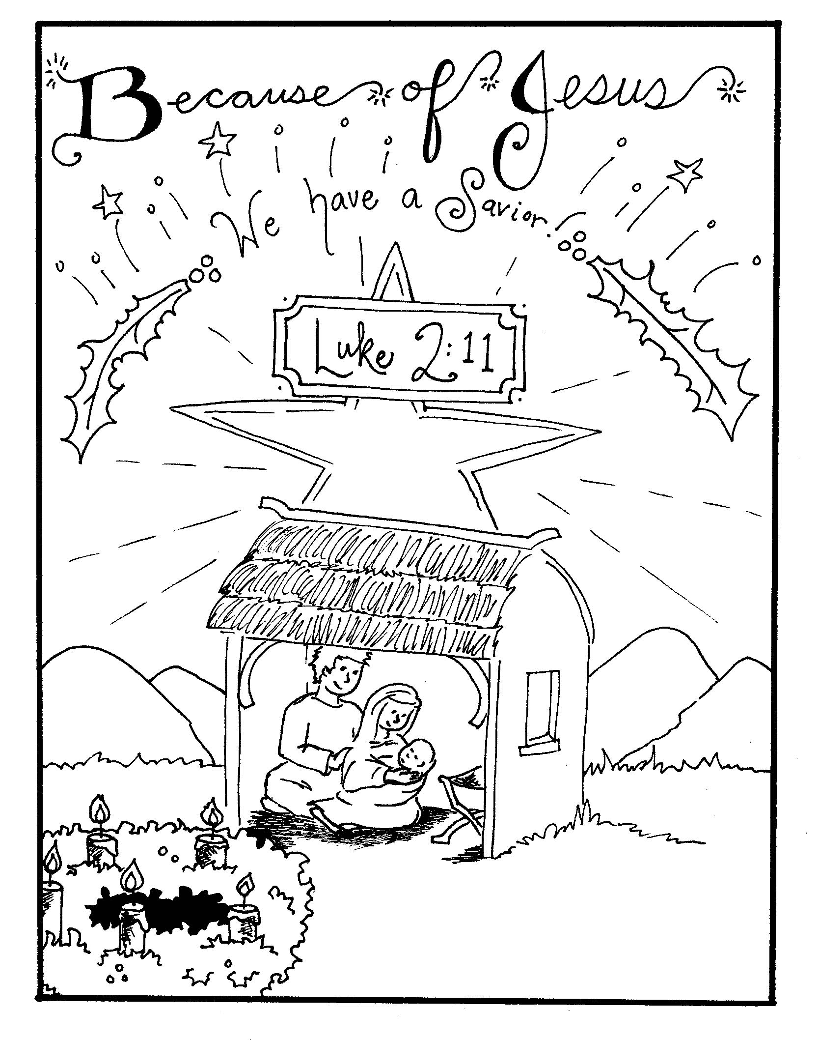 nativity scene coloring pages christmas