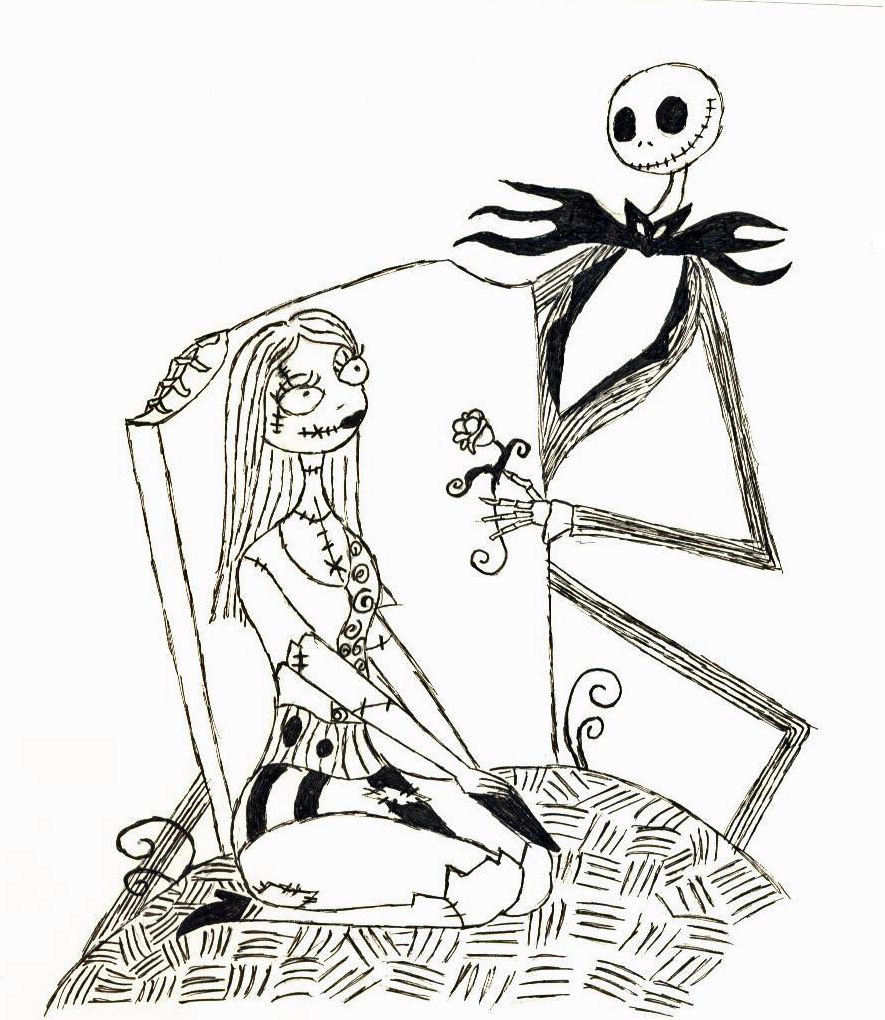 printable Nightmare Before Christmas images to color