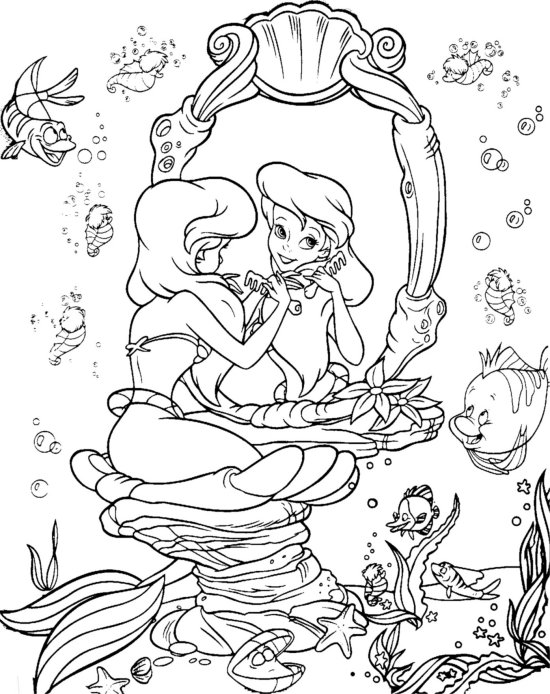 Ariel Little Mermaid Coloring