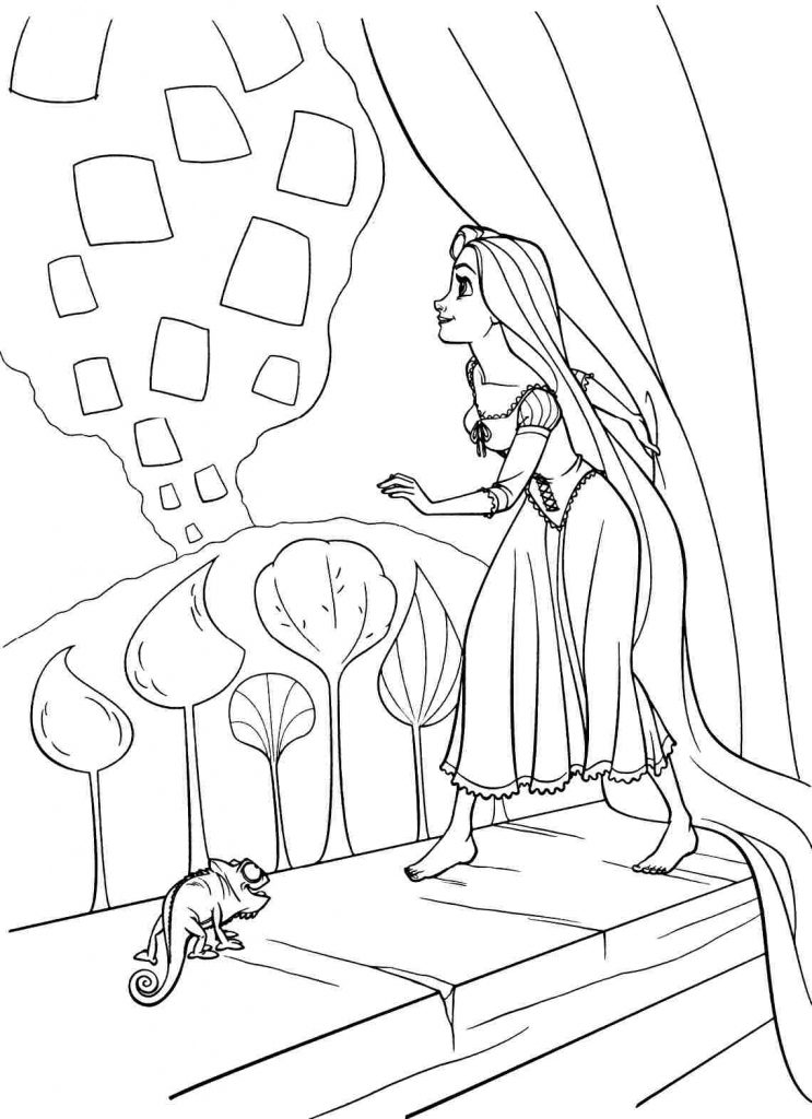 free downloadable coloring pages | Rapunzel Coloring Pages - Best Coloring Pages For Kids