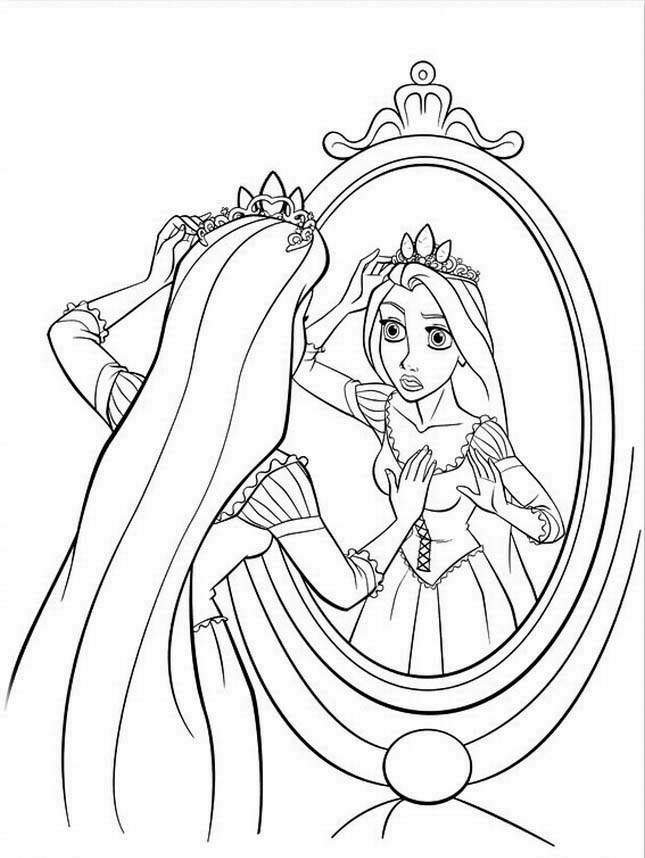 free printout coloring pages | Rapunzel Coloring Pages - Best Coloring Pages For Kids