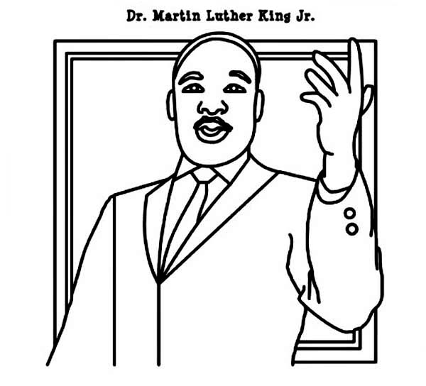 Dr Martin Luther King Jr Coloring Pages
