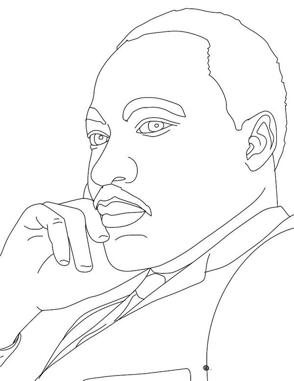 Easy Mlk Coloring Sheet