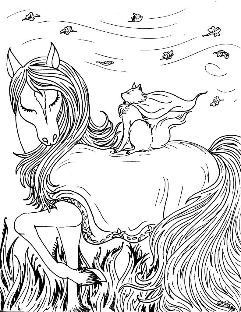 Fantasy Coloring Pages Beautiful Horse