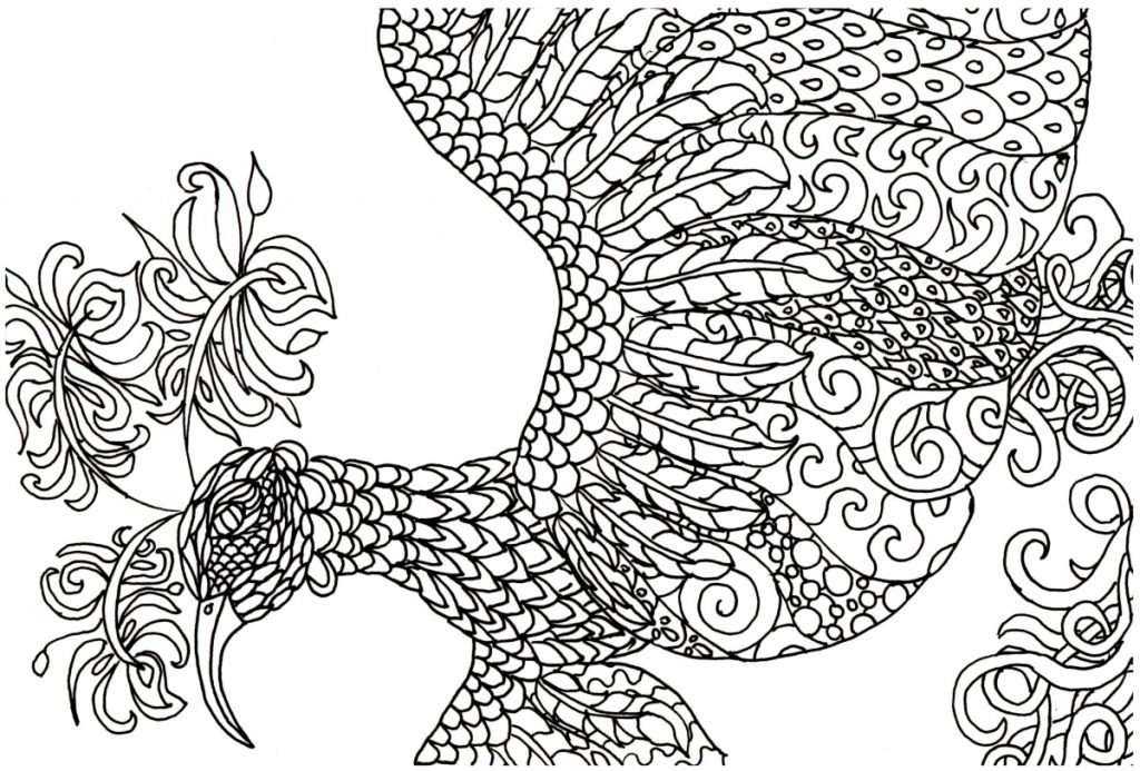 Fantasy Coloring Pages Bird