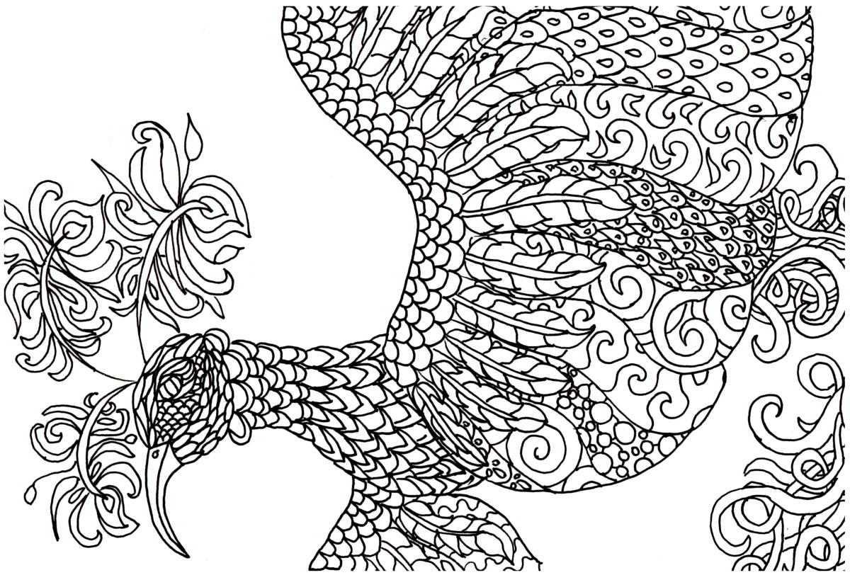 Fantasy Coloring Pages Bird