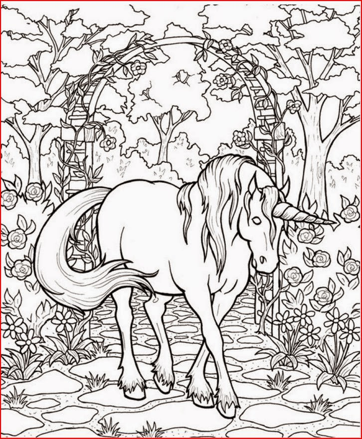 Fantasy Coloring Pages Gorgeous Unicorn