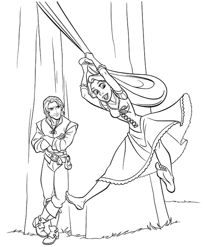 Free Rapunzel Coloring Page Printable