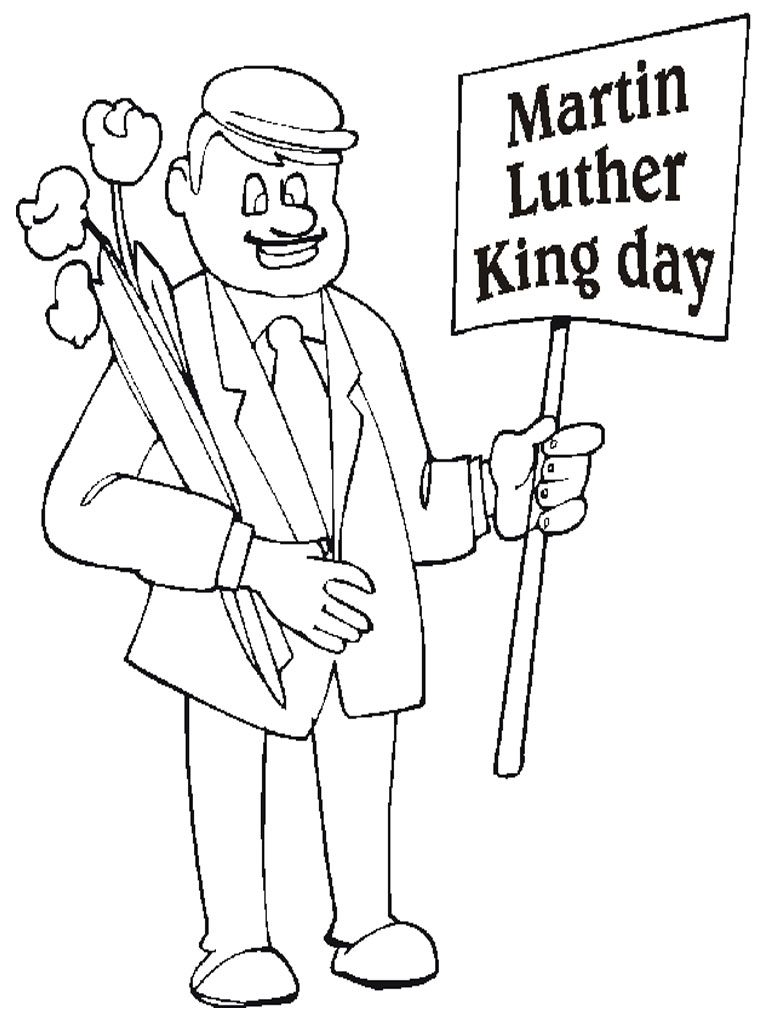 Martin Luther King Day Coloring Page