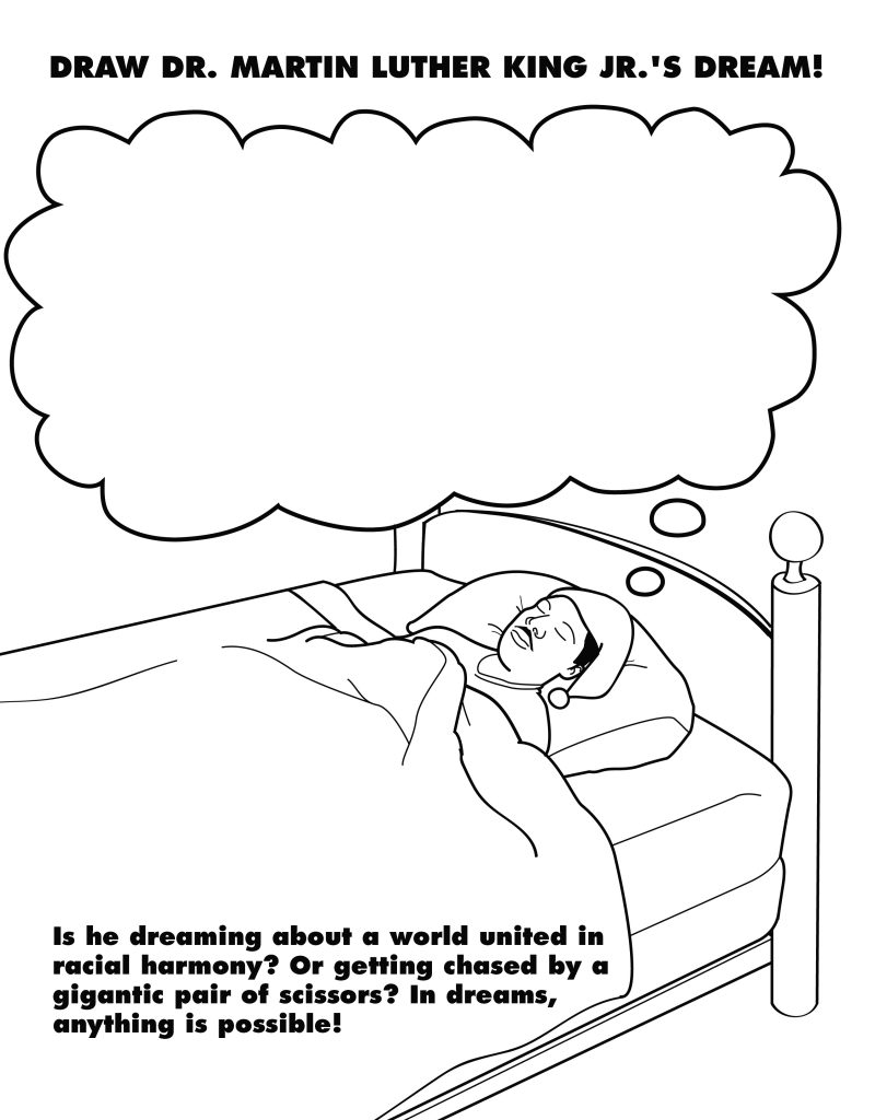 Martin Luther King Coloring Worksheet