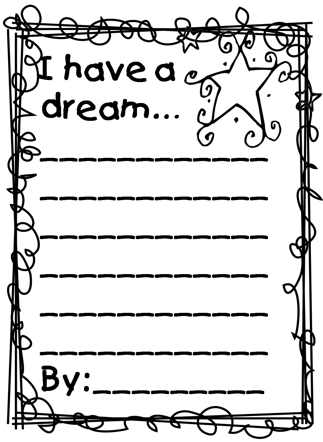 Martin Luther King Jr Coloring Pages And Worksheets