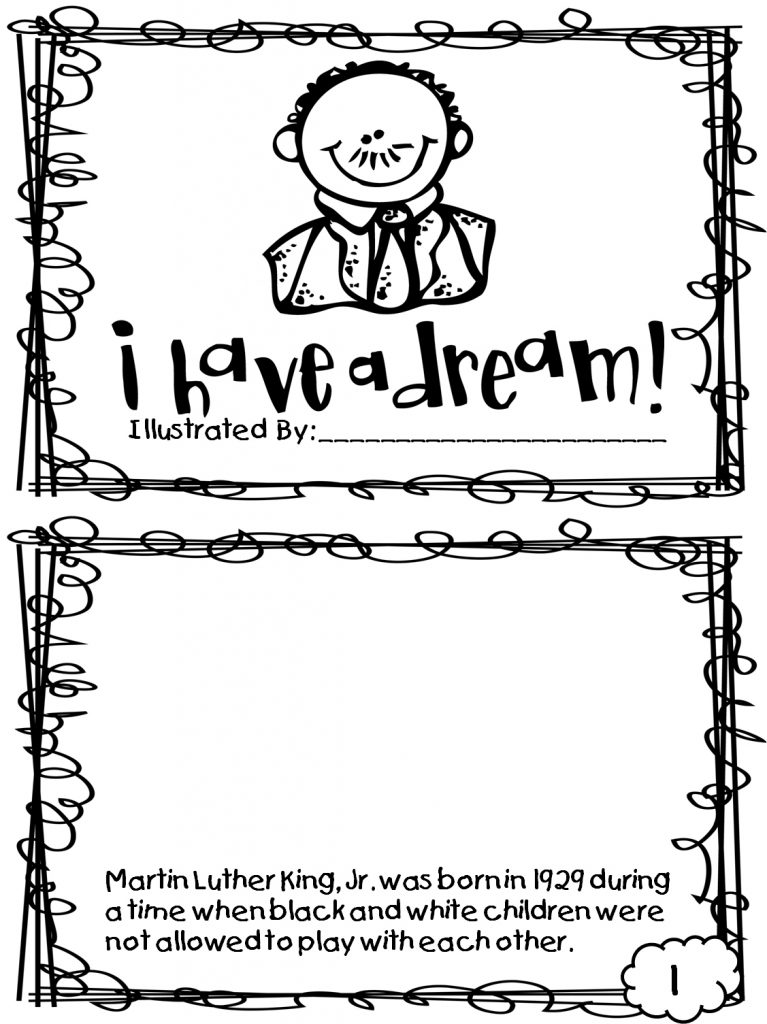 Martin Luther King Jr Dream Worksheet