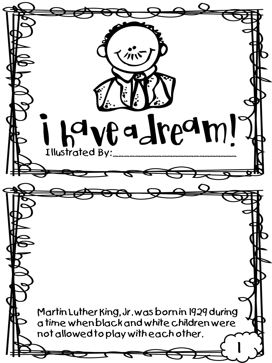image about Martin Luther King Coloring Sheets Printable identify Martin Luther King Jr Coloring Internet pages and Worksheets - Great