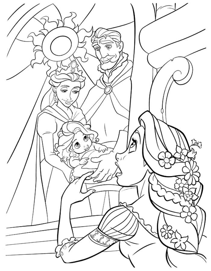 first disney characters coloring pages - photo#48