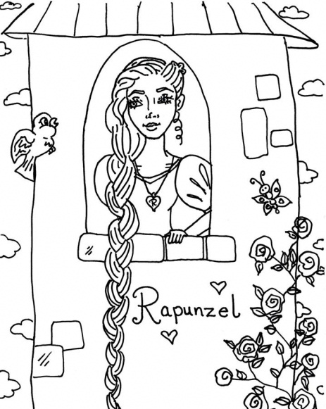 Rapunzel Coloring Pictures to print