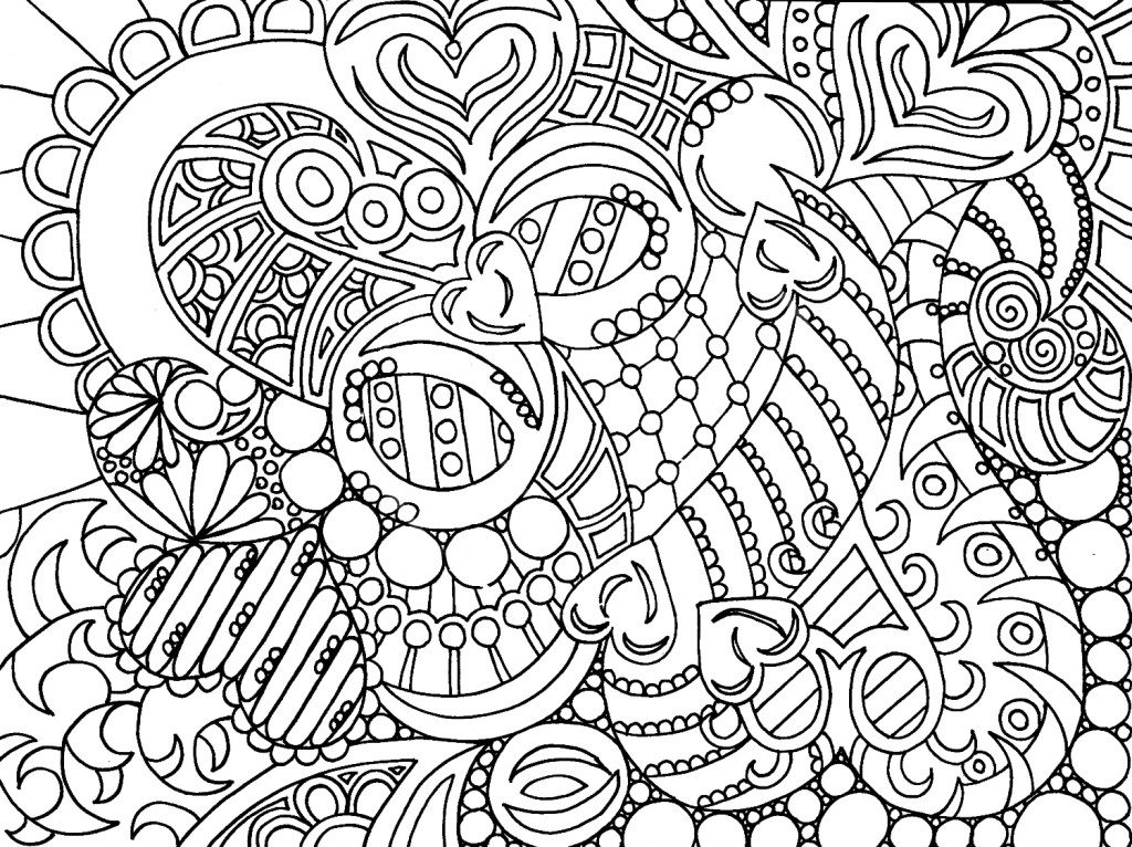 Valentine Coloring Pages - Hearts Page