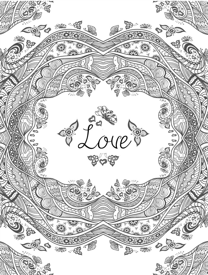 Valentine Coloring Pages - Love