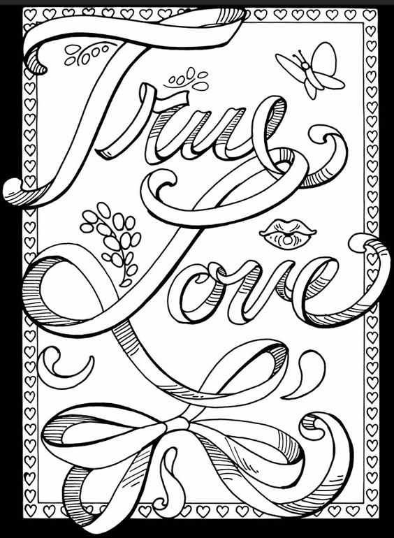 Valentine Coloring Pages - True Love