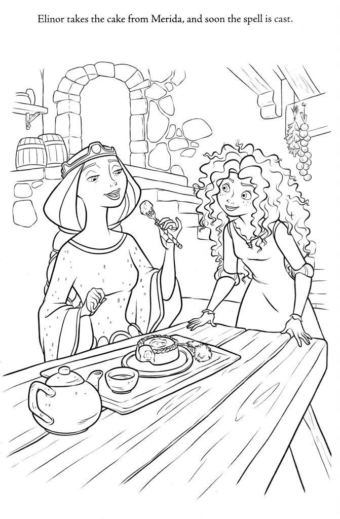 Brave Coloring Page - Merida and Mom