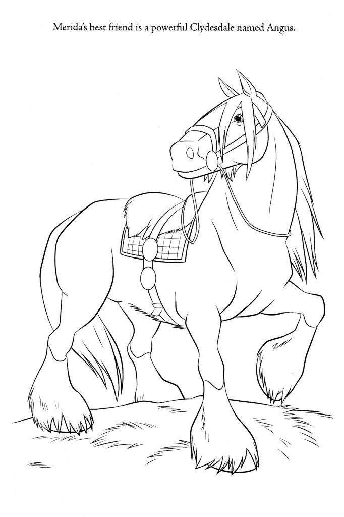 Brave Coloring Pages - Angus